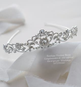 Muy fina tiara de novia ,diadema novia ,invitada