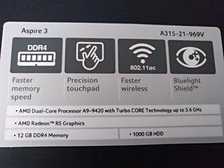 Portátil ACER Aspire 3 A315-21-969V (AMD-A9)