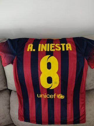 camiseta Iniesta 2013 barcelona