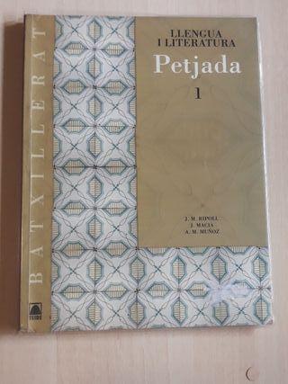 Llibre de text de català de 1° de batxillerat.