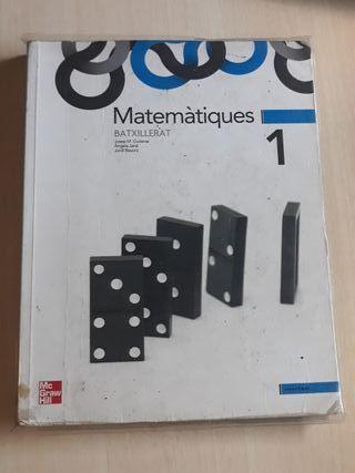 Llibre de text de matemàtiques 1° de batxillerat.