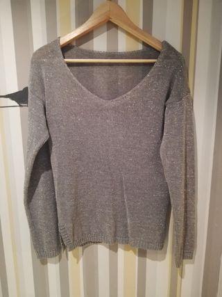 Jersey de verano gris con brillante