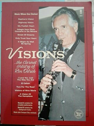 Visions Ron odrich. Partituras clarinete jazz.