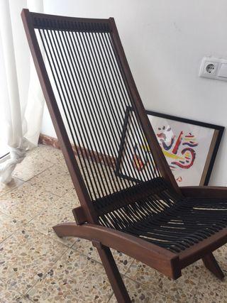 Silla estilo tumbona de Ikea