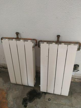 2 radiadores 4 elementos