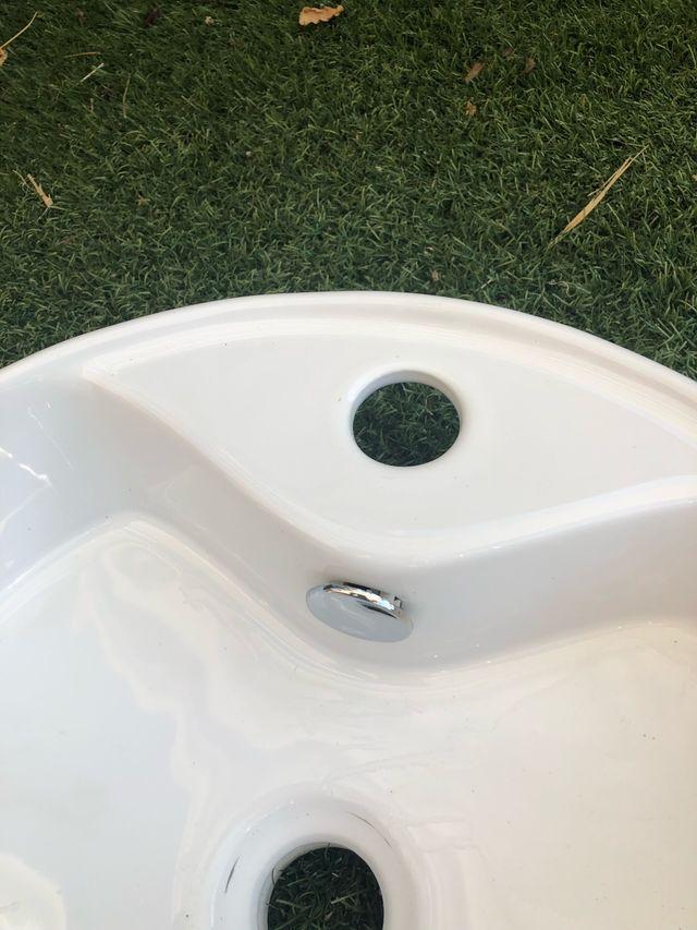 Lavabo sobre encimera redondo 38 cm