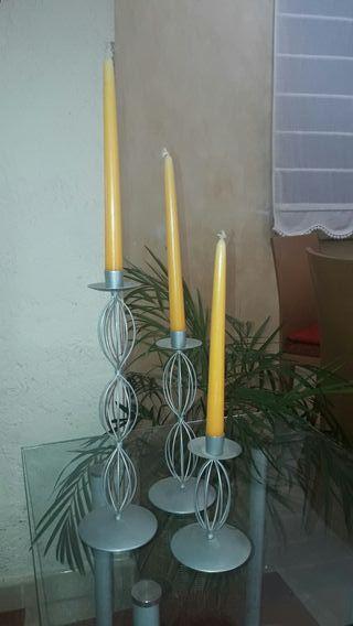 juego de candelabros