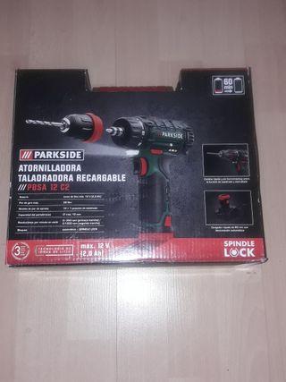 atornillador taladro recargable 12 voltios Parksid