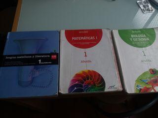 Libros 1º Bachillerato