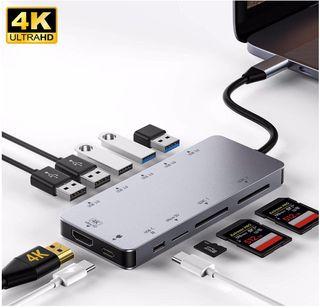 Adaptador usb c hub 3.0 micro sd macbook NUEVOS