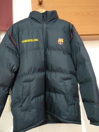 Abrigo del FC Barcelona.