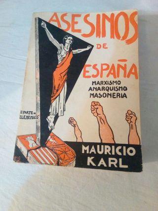 Libro antiguo asesinos de españa