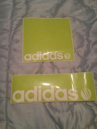 2 Pegatinas Adidas