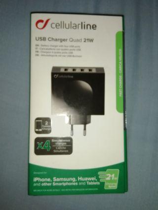 Cargador Ultra 4 puertos USB. Cellurlaline