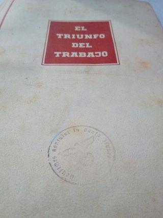 Libro antiguo el triunfo del trabajo