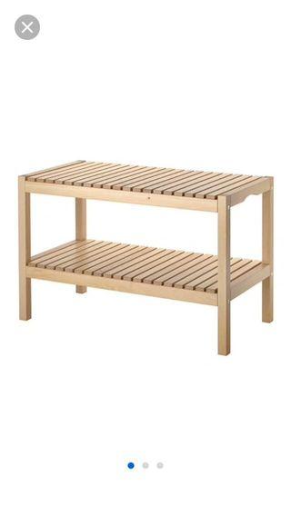 Banco y estantería Ikea