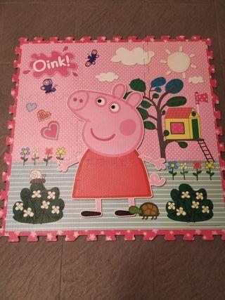 puzzle para el suelo de Peppa Pig
