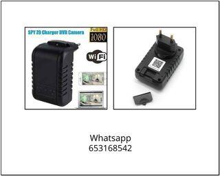 Cargador móvil USB cámara espia wifi