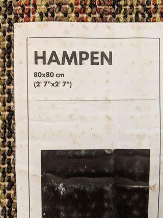 alfombra hampen ikea negra
