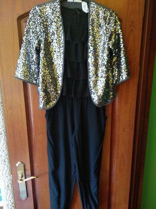Conjunto T10/11(146cm) mono y chaqueta niña H&M