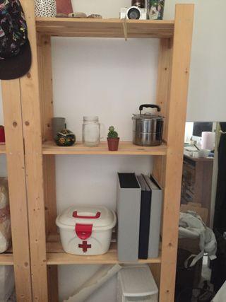 2 Estanterías madera Ikea
