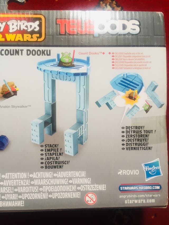 Toy angry birds Star Wars