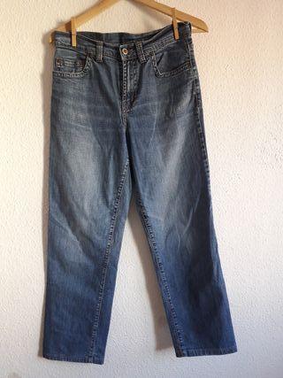 pantalón vaquero jeans azul New Caro t 40 recto