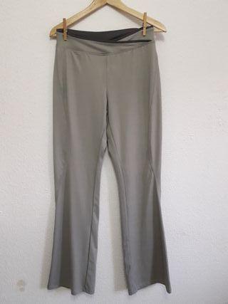 NUEVO pantalón gris yoga gym gimnasio t M 42-44