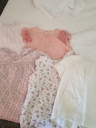 blusas niña t.7-8. 3x10€