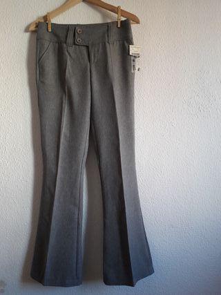 NUEVO pantalón formal gris Stradivarius t 34 recto