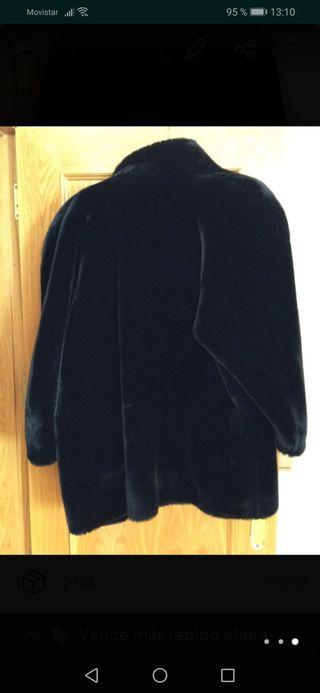 OFERTÓN: Abrigo mouton negro Talla 46/48