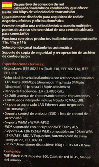 Repetidor Wifi 300 Mb/s