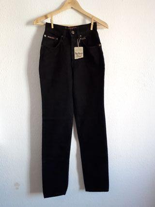 NUEVO pantalón vaquero jeans negro Marlboro t 36