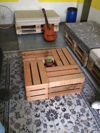 Mesa Cajas de Fruta de Madera