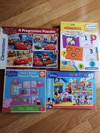 puzzles PACK EDAD 3 años en adelante