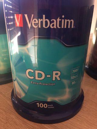 BOBINA 100 CD -R Verbatim