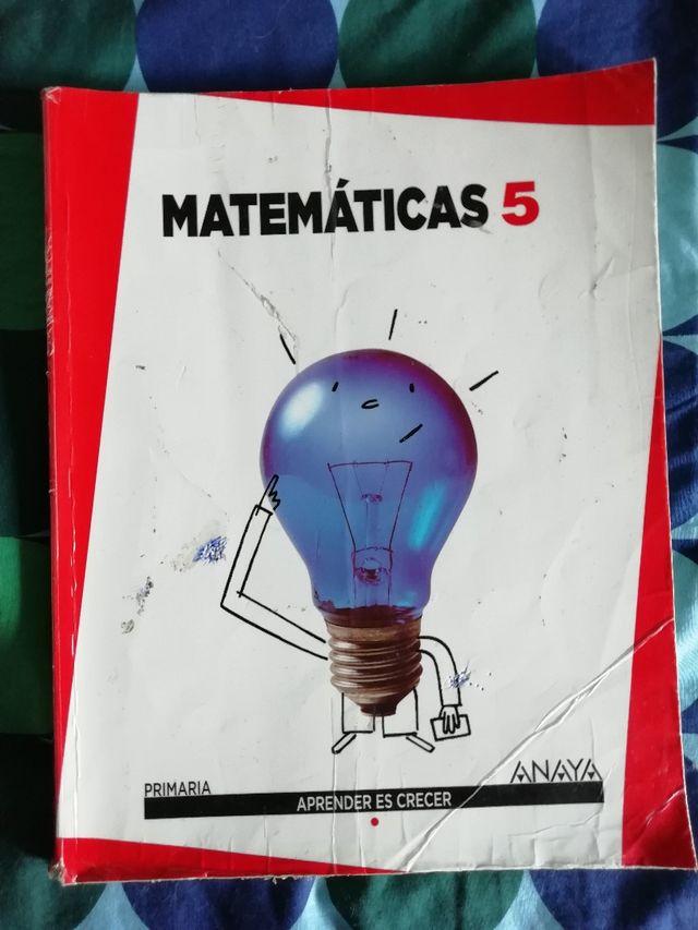 Libro de texto Matemáticas 5°Primaria