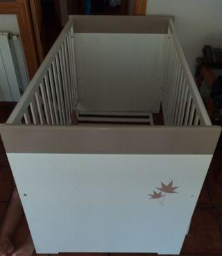Cuna de Madera ( Se hace cama)