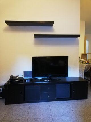 Mueble Salón TV ikea negro