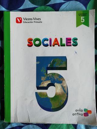 Libro de texto Sociales 5°Primaria