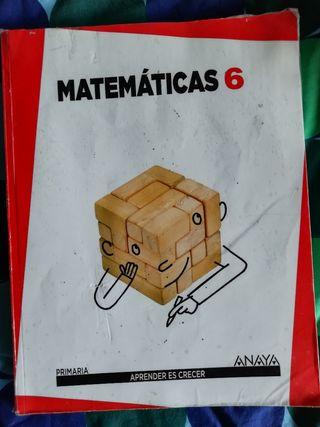 Libro de texto Matemáticas 6