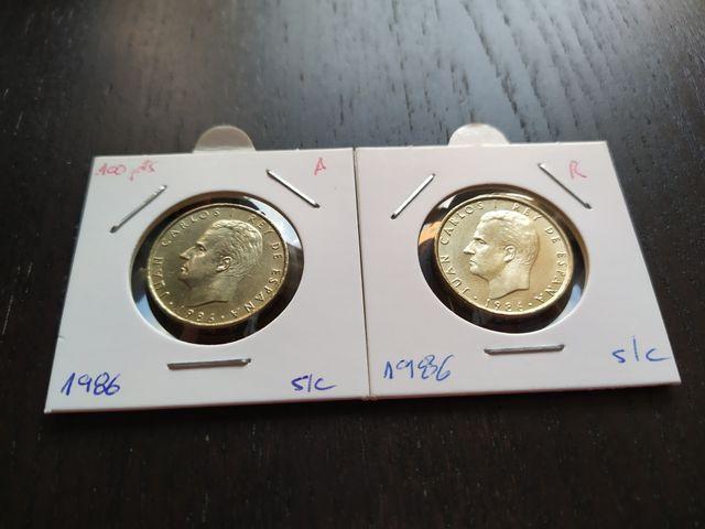 Monedas 100 pesetas 1986 Sin Circular Lis a elegir