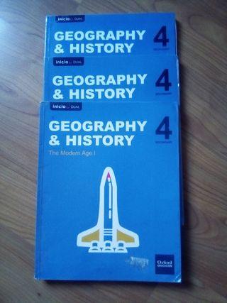 libro geograpy and history de 4 de eso