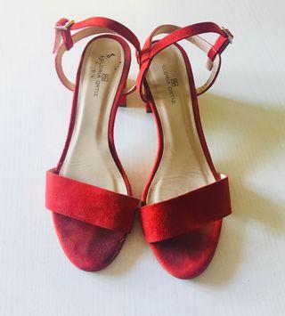 Zapatos Sandalia Gloria Ortiz Rojos