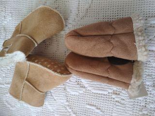 guantes y botas niña bebé
