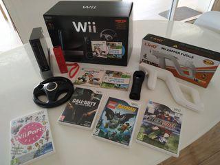 Nintendo Wii Edición Limitada + 4 juegos + pistola