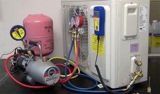 Carga gas aire acondicionado y reparacion