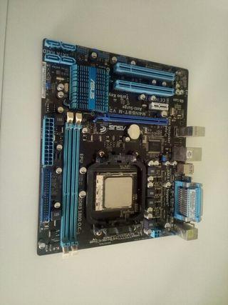 Combo placa base m4n68tm v2 + amd athlon 2