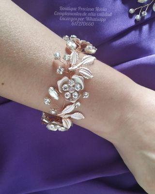 Pulsera de novia ,joya de novia ,pulsera invitadas