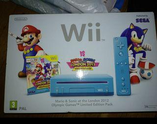 Nintendo Wii con caja + accesorios